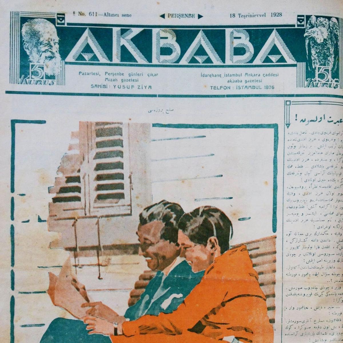 1928 -1931 yılları arasında Akbaba Gazetesi 611. sayıdan 875. sayıya kadar gazete formatında yayımlanmıştır